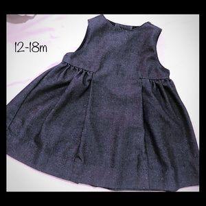 Baby Gap Sparkly Dark Denim Dress